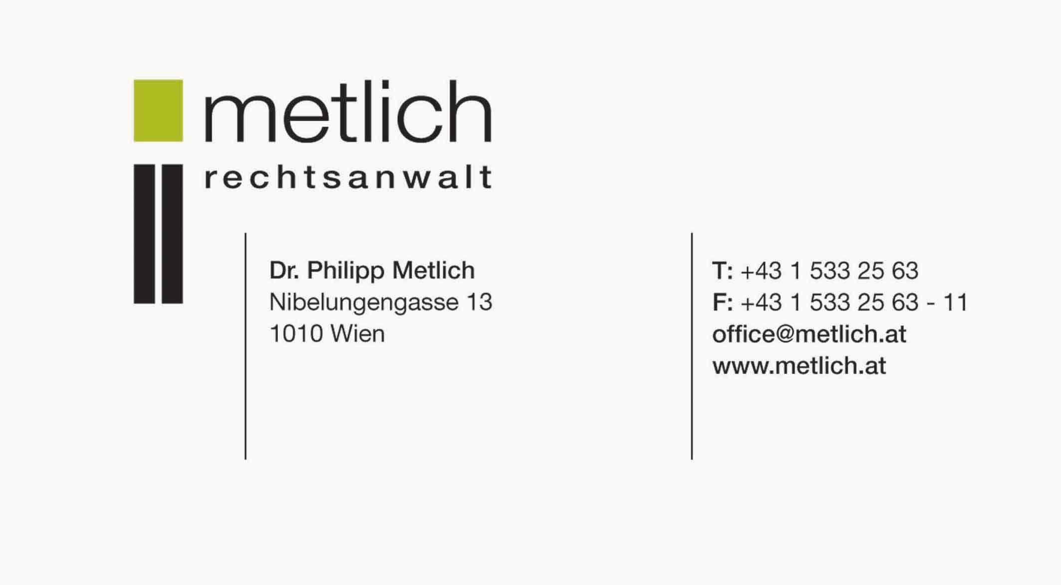Rechtsanwalt Dr.P.M. Metlich